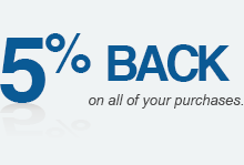 5% Back on all of your purchases